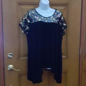 Relativity top, size 2X,  black knit